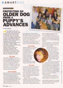 Interview with Debby McMullen in Dog Fancy Magazine April 2012